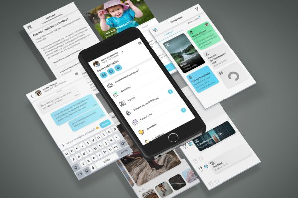 Hybrid app Ouderportaal iOS Android Windows UX UI Eric Steuten Creative Director art direction & UI UX designer