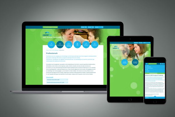 Portfolio image responsive website design UI Centroz Weert Eric Steuten Creative Director art direction & UI UX design
