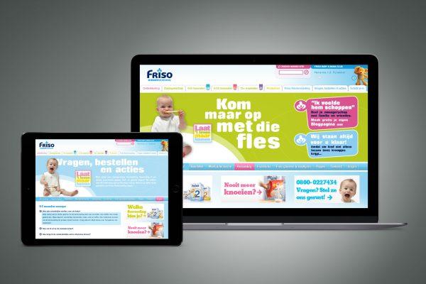 Portfolio image website UI Friso Kindervoeding Eric Steuten Creative Director art direction & UI UX designer