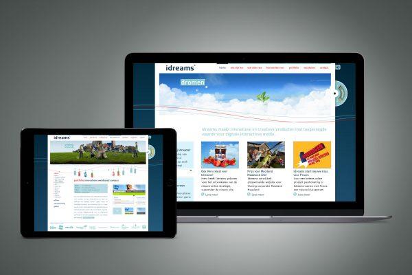 Portfolio image website UX UI Idreams Eric Steuten Creative Director art direction & UI UX designer