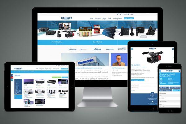 Portfolio image responsive website & CRM UI UX Sanel Eric Steuten Creative Director art direction & UI UX designer