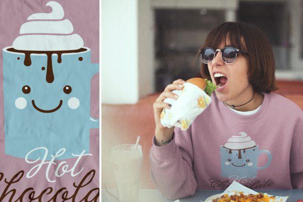 Portfolio image t-shirt design Hot Chocolate Time Eric Steuten Creative Director art direction & UI UX designer